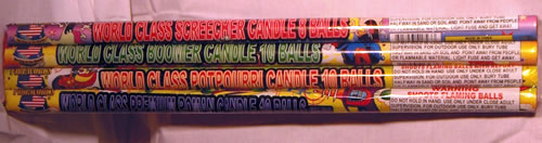 10 Ball Candle - Assorted
