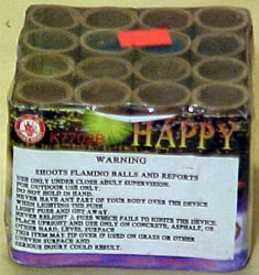 Happy Fireworks - 16 shot with report